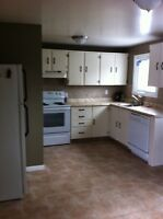 Great location, large yard, open concept 2 Bedroom apartment..