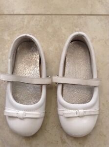 Girls white shoes size 11, $10