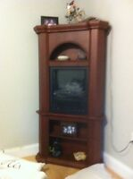 Corner electric fireplace for sale
