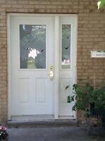 Porte d'entrée et porte patio