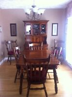 Dining room set made in Canada.