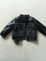 "Kids ""leather"" biker jacket"