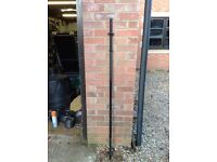 1 x 5ft Solid Black Barbell