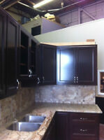 Cherry Wood Cabinets with Granite and Sink for Sale