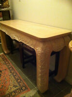 """Large solid wood sofa or entry hall table - 54"""" by 17"""" by 28"""""""