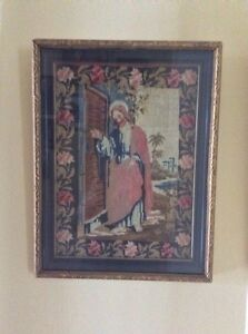 Antique Framed Needlepoint from 1880