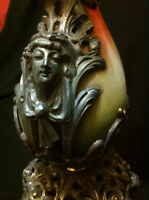 Rare Victorian Ornate Decorative Urn with Man and Woman Faces