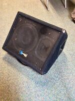 Pa speakers, monitor, mics and stands