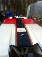 1985 Grew Cub 10ft Tunnel Hull with 30hp evinrude & trailer