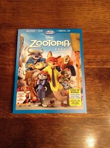 Zootopia- Blu Ray & DVD!  Watched once! London Ontario image 1