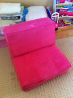 Convertible Pink Lounge Chair