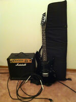 Ibanez Gio Electric Guitar and Marshal Amp Great Condition!