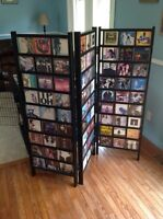 Solid wood cd display unit. Collapsible or expandable.