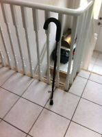 Adjustable Walking Cane with Ice Pick, Padded Grip (Wasaga)