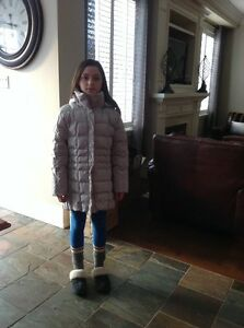 Girls youth size M gray parka winter jacket- $30