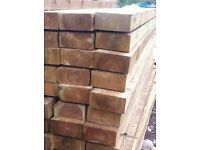WOODEN RAILWAY SLEEPERS 2.4m x 200mm x 100mm pressure treated( Glasgow Scotland Edinburgh 8 foot