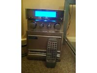 Panasonic surround sound/stereo system & speakers & stands