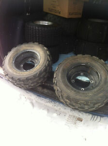 YAMAHA BLACK ITP FRONT WHEELS WITH PURE SPORTS TIRES Windsor Region Ontario image 1