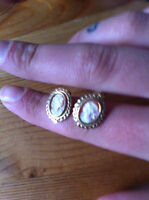 10K YELLOW GOLD (STAMPED) CAMEO EARRINGS (VINTAGE/ANTIQUE?)