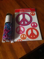 Peace wall decals and sequence door chains