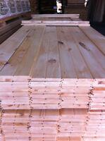 plancher de pin rouge toute largeur mural v-joint pin blanc $