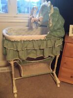 Bassinet - convertible with lights, sound & vibration and remote