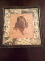 Portrait of Native American By E.A.Trusler 1907