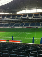Winnipeg Blue Bombers vs Hamilton Half Season incl HOME OPENER