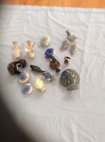 16 bird salt peppers and ornaments