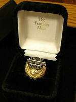 """Harley-Davidson """"Wings of Freedom"""" Ring Sz 10.5, 10K Gold Eagle"""