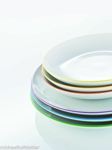 12 pieces Arzberg Cucina Colori Dinner plate + Soup plate 6 colours assorted NEW
