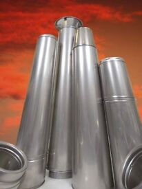 double skin insulated stainless chimney sections