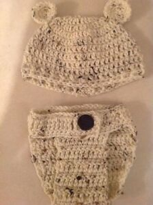 Crochet baby hat and diaper cover sets! Made by order