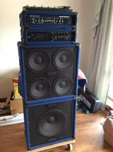 Hatke HA3500 Bass Amp, 4x10 & 1x15 cabs. Bass Pod XT Pro with FPV Heathridge Joondalup Area Preview