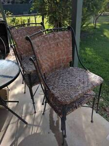 Wrought Iron chairs x4 Sherwood Brisbane South West Preview