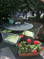 SUN or SHADE you have it made with this patio set.