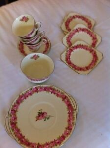 Antique Royal Doulton Dinning Set Fine Bone China England Hampton Bayside Area Preview