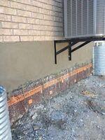 Specializing on Waterproofing Weeping Tile Cracks Parging