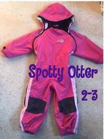 Spotty Otter girls snow suit