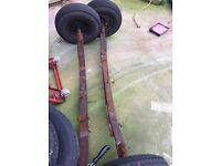 "Trailer Wheel Rims and Tyre 5.00 x 10 6 PLY 4"" PCD caravan boat trailer"