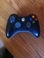 Xbox 360 controller, batterypack, and charger