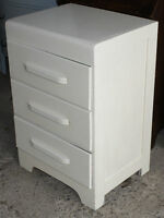 Small Off-White Color Wood Chest of Drawers