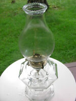 Vintage Pearl Lotus Flared Glass Chimney for Kerosene Lamp - Oil