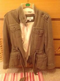LADIES KHAKI JACKET FROM NEXT SIZE 12