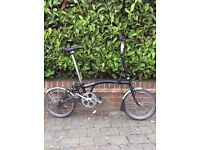 BROMPTON M3L IN GOOD CONDITION 3 SPEED IN BLACK