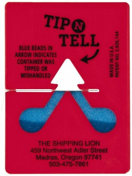 Made in USA Pack of 100 Tip-N-Tell Concealed Damage Indicators Shipping Labels