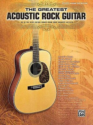The Greatest Acoustic Rock Guitar Sheet Music Guitar Tablature Book NE 000701551