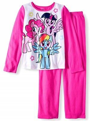 NWT Disney Girls Sz 10 - 12 My Little Pony Flannel Pajamas NEW (My Little Pony Pjs)