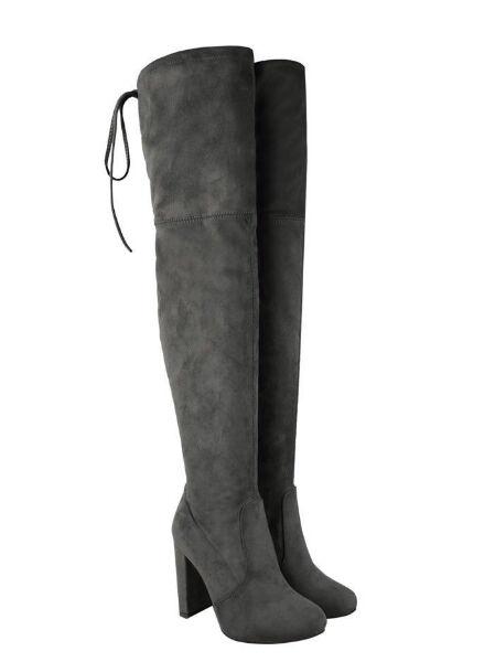 Women's Over The Knee Suede High Heel Boots