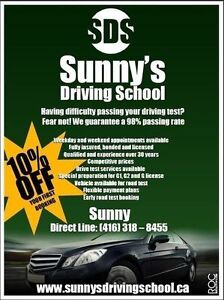 SUNNYS DRIVING SCHOOL - FOR ALL YOU G1, G2 & G LICENSE NEEDS